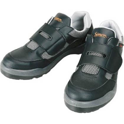 シモン 安全作業靴 短靴 8818 ブラック 25.0cm 881825.0   当革・マジックバンド安全靴 安全靴