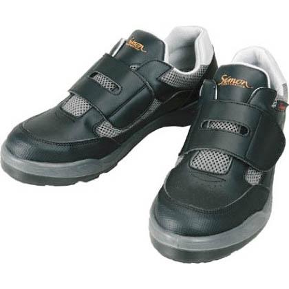 シモン 安全作業靴 短靴 8818 ブラック 25.5cm 881825.5   当革・マジックバンド安全靴 安全靴