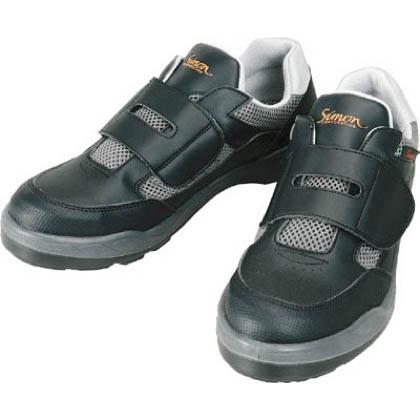 シモン 安全作業靴 短靴 8818 ブラック 26.5cm 881826.5   当革・マジックバンド安全靴 安全靴