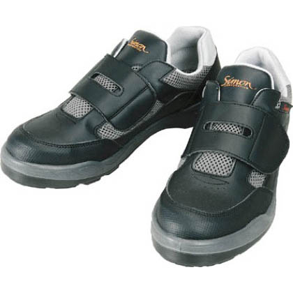 シモン 安全作業靴 短靴 8818 ブラック 28.0cm (881828.0) 当革・マジックバンド安全靴 安全靴