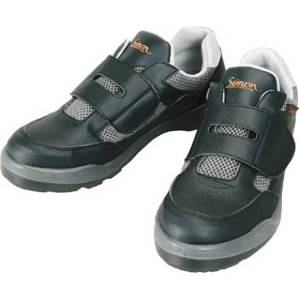 シモン 安全作業靴 短靴 8818 ブラック 23.5cm 881823.5   当革・マジックバンド安全靴 安全靴