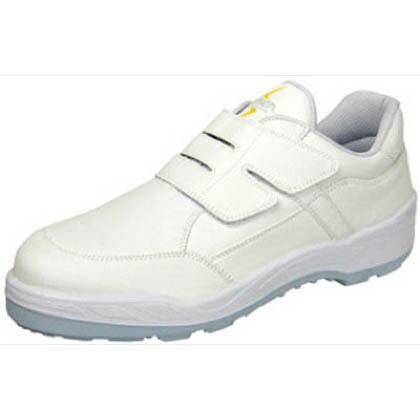 シモン 静電安全作業靴 短靴 8818 白 25.5cm 8818WS25.5   当革・マジックバンド安全靴 安全靴