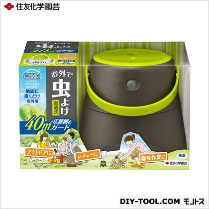 無虫空間お外で虫よけ 1セット入 電池式屋外用虫よけ  11.5×17×11cm