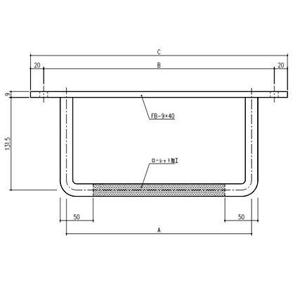 ステンレス製プレート付タラップ ローレット付  19×350mm 241-506