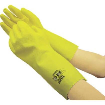 SD-1000 耐溶剤用手袋 イエロー Lサイズ (SD1000) 1双