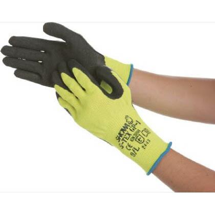 耐切創手袋 ステンレスワイヤー入り ブラック Mサイズ  (STEXGP1M) 1双