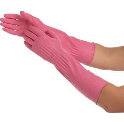 しなやかロング ゴム手袋 ピンク Mサイズ  (SNYKLONG-P) 1双