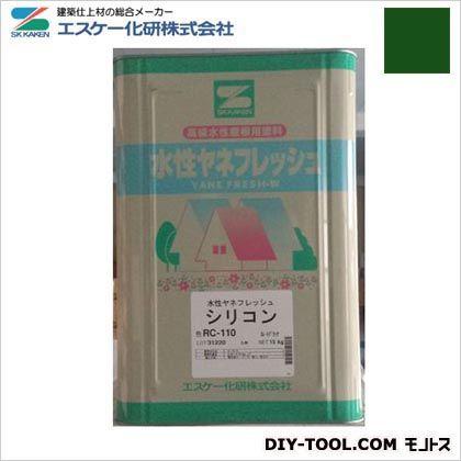 水性ヤネフレッシュシリコン(艶有り) 高耐久性屋根用塗料 ディープグリーン  RC-114