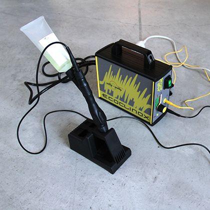 ステンレス溶接焼け取り装置  D×W×H:210×80×170mm エコクリノックス ブラシセット STJA0001