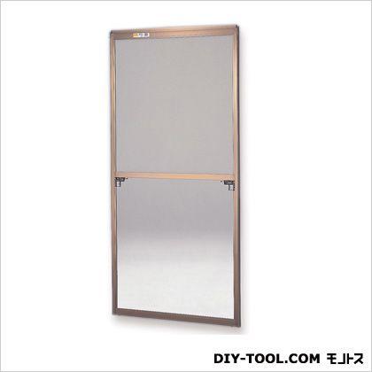 フリーサイズ網戸 H200~203.3×W87.5~89.5用 ブロンズ  66-120