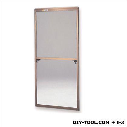 フリーサイズ網戸外付 H93.5~96.8×W87.5~89.5用 ブロンズ  30-60T