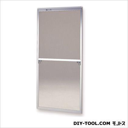 フリーサイズ網戸 H131~134.3×W87.5~89.5用 シルバー  45-120