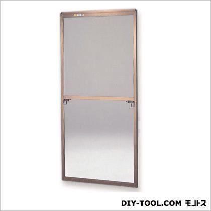 フリーサイズ網戸外付 H108.5~111.8×W87.5~89.5用 ブロンズ  35-60T