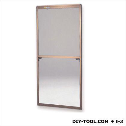 フリーサイズ網戸 H131~134.3×W61.5~63.5用 ブロンズ  45-45