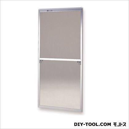 フリーサイズ網戸木製窓用 H172.5~175.8×W87.5~89.5用 シルバー  57-6M