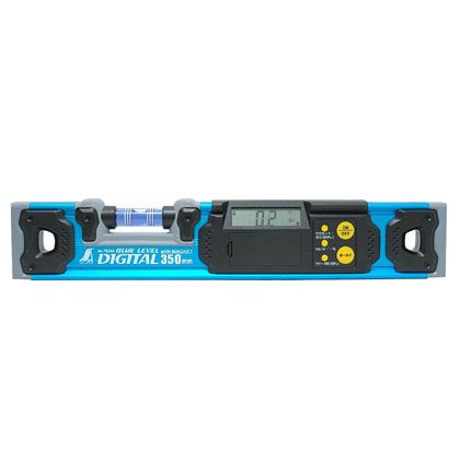 ブルーレベル デジタル 水平器 マグネット付  350mm 76344
