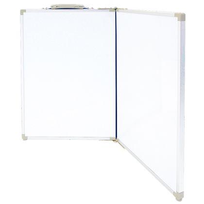 シンワ測定 ホワイトボード 折畳式 OAW 無地 横 ホワイト 45×60cm 77741