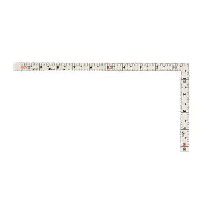 曲尺同厚 併用目盛 ホワイト 1尺/30cm 11105