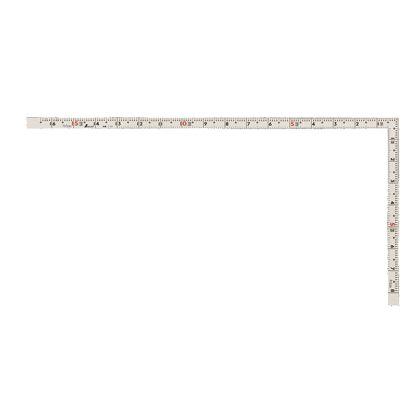 シンワ測定 曲尺同厚 併用目盛 ホワイト 1尺6寸/50cm 11107