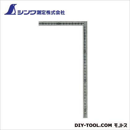 シンワ曲尺小型溝付ステン30cm×15cm表裏同目  1.1×165×330mm 12130