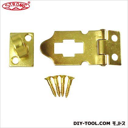 ストロング掛金 真鍮製/鉄製エンボス 真鍮メッキ 35×20mm NK-A-CZ-BS-35