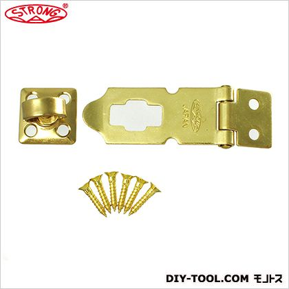 ストロング掛金 真鍮製/鉄製エンボス 真鍮メッキ 60×23mm (NK-A-CZ-BS-60)