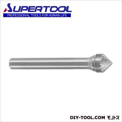 スーパー超硬バーシャンク径6ミリ(円錐型90度)ダブルカット(刃径:12.7  軸径6mm SB49C03