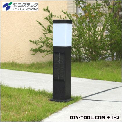 ソーラーポールライト スリム 電球色LED ブラック 高さ:50cm幅:13cm奥行:13cm SPL-SL-ORB