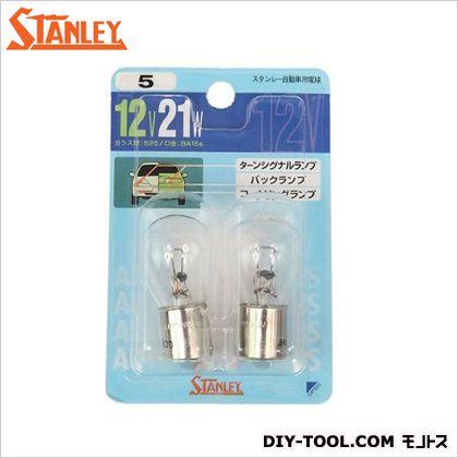 スタンレー電気 ブリスター電球 12V21W  11x7.1x2.8cm NO5 2 ヶ