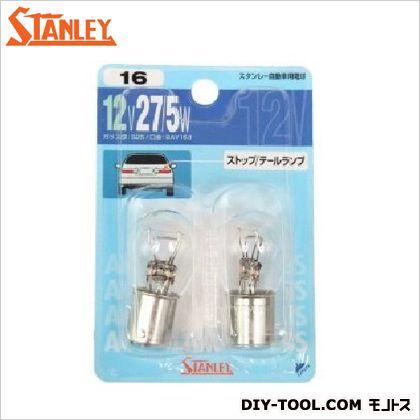 スタンレー電気 ブリスター電球 12V 27/5W  10.8x7.2x2.8cm NO16 2 ヶ