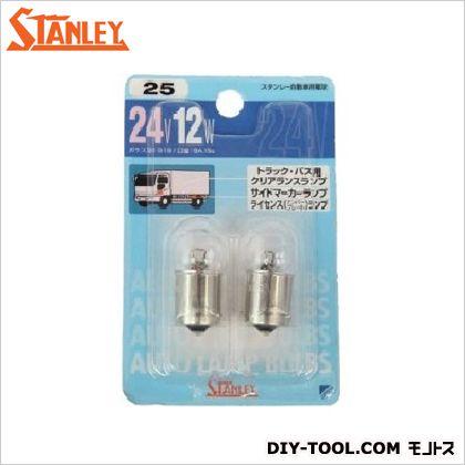 スタンレー電気 ブリスター電球 24V12W  11.1x7.4x1.9cm NO25 2 ヶ