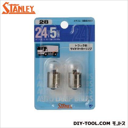 スタンレー電気 ブリスター電球 24V5W  11x7.3x2.1cm NO28 2 ヶ