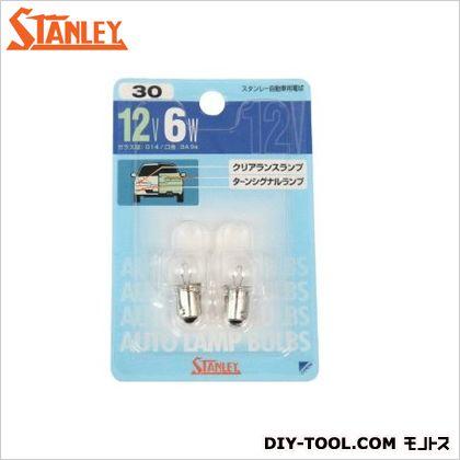 スタンレー電気 ブリスター電球 12V6W  11x7.2x1.6cm NO30 2 ヶ