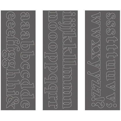 ウォールステッカー アルファベット ミニオンプロ 小文字 WS-03SQGY squ+  約縦10.3×横29.6(cm) 250199