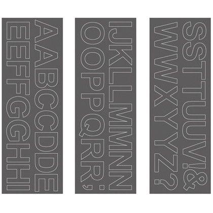ウォールステッカー アルファベット アリアル 大文字 WS-05SQGY squ+  約縦10.3×横29.6(cm) 250201
