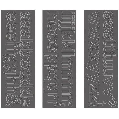 ウォールステッカー アルファベット アリアル 小文字 WS-06SQGY squ+  約縦10.3×横29.6(cm) 250202
