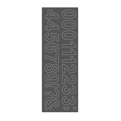 ウォールステッカー ナンバー アリアル WS-07SQGY squ+  約縦10.3×横29.6(cm) 250203