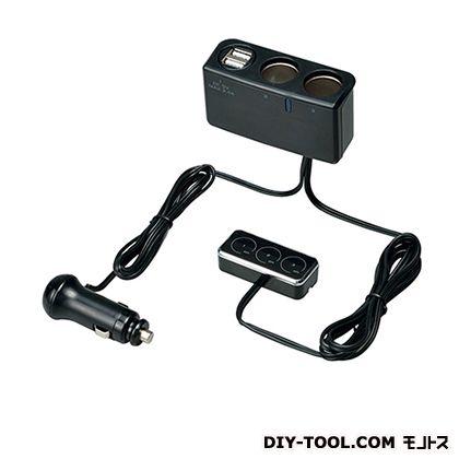 タッチリモコンソケット2連+USB   F255