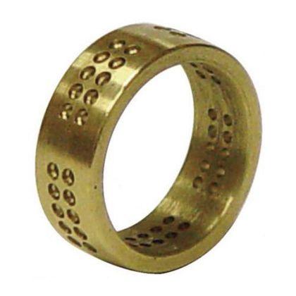 50穴パヴェ真鍮リング  サイズ:20.8X7mm幅、1.5mm穴X50 011-379