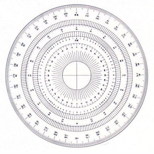 全円分度器15cm アクリル製 (16-512 360ド)