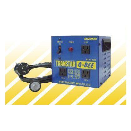 ポータブル変圧器(昇圧機能付き) トランスターQ-BEE(トランスターキュービー) 青  STX-3QB