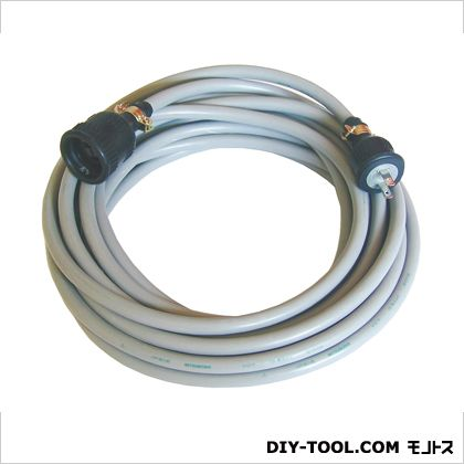 100V電源延長キャブタイヤVCT3.5Sq×2芯 グレー 10m (CT-599)