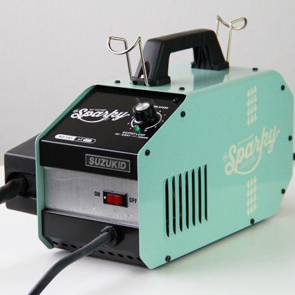 ノンガス半自動溶接機 sparky(スパーキー) ライトブルー (SPK-80b)