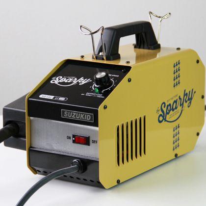 ノンガス半自動溶接機 DIY FACTORY sparky(スパーキー) スターターセット オレンジ  SPK-80o