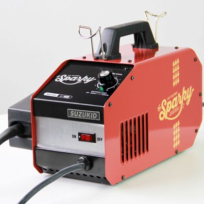 ノンガス半自動溶接機 DIY FACTORY sparky(スパーキー) スターターセット レッド  SPK-80r