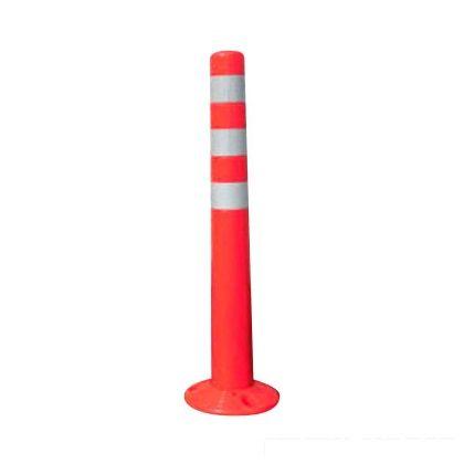 ソフトコーンM ベース付タイプ コンクリート用 赤 直径80mm×高さ760mm×ベース部210mm (SC-M760) 60本