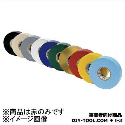 電気絶縁用ビニールテープ  No.117 赤 19mm×20m   10巻