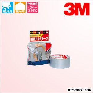 3M(スリーエム) 屋内・屋外煙突・温風ダクト用 耐熱アルミテープ  0.09mm×38mm×4.5m(厚み×幅×長さ) EN-05