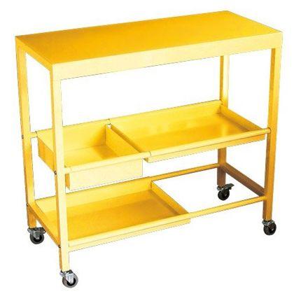 Various(バリアス) Multi Table Wagon  マルチワゴン イエロー (約)幅80cm×奥行35.5cm×高さ76cm CPR419YE