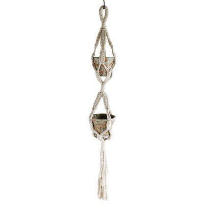 スパイス マクラメプラントハンキング No4 ベージュ 高さ:135(cm) RHLG5140